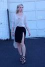 Black-forever-21-skirt