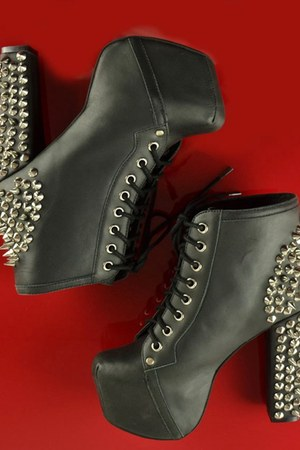 leather spikes Jeffrey Campbell boots
