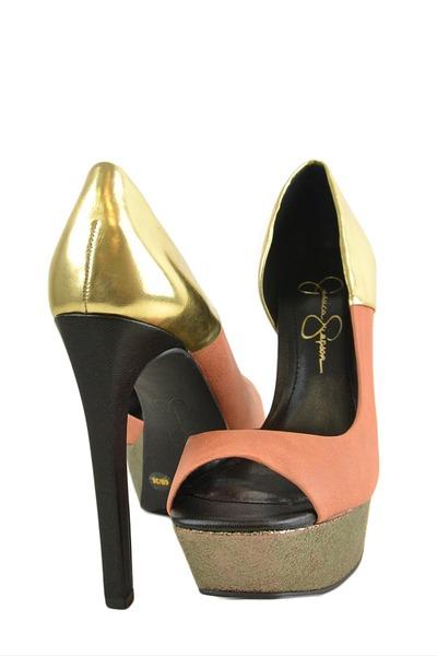 tan Jessica Simpson heels