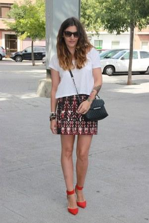 H&M skirt - H&M shirt - Mango bag - rayban sunglasses - Zara heels