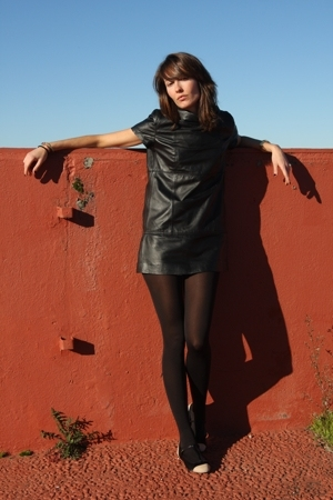 black BLANCO dress - Zara shoes - black Wolford tights