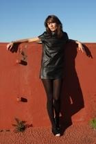 black BLANCO dress - Zara shoes - black Wolford tights