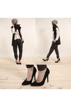 zipper vest vest - pants - For Love & Lemons blouse - heels