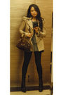 Beige-coat-gray-t-shirt-black-jeans-brown-prada-purse-brown-prada-boots