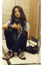 Fluxus t-shirt - Siwy Denim jeans - shoes - Prada purse - accessories