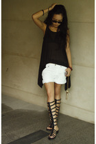 Kain top - shorts - Bebe shoes