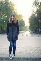asoscom coat - H&M jeans - Converse sneakers