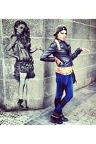 orange MrGu&Go blouse - black no brand blouse - navy deezee boots