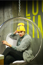yellow Kollana Fashion hat