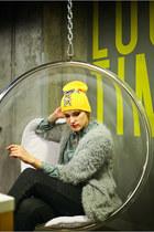 yellow Kollana Fashion hat