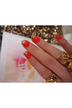 gold YSL ring