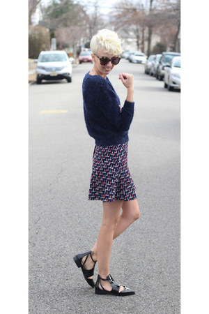H&M sweater - Zara shoes - H&M skirt