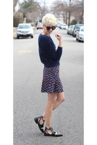 H&M sweater - Zara shoes - H&M skirt