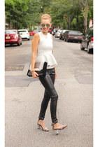 H&M top - Zara bag - H&M pants - Zara heels - Stella & Dot bracelet