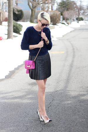H&M skirt - H&M sweater - Diane Von Furstenberg bag - Zara heels