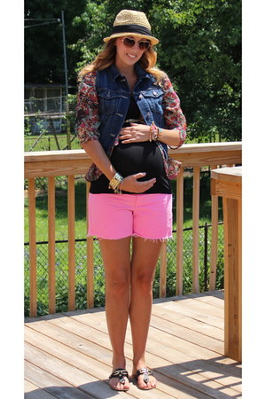 Sugarlips blouse - Express hat - Gap shorts - Express top - Old Navy vest