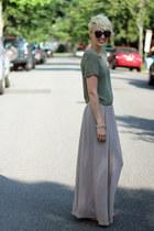 H&M skirt - Stella and Dot bracelet - H&M top - Steve Madden sandals