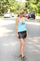 Zara top - H&M sandals - H&M skirt - Kristin Perry Accessories earrings
