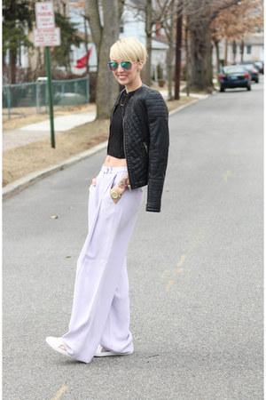 Endless Rose top - Zara jacket - H&M sunglasses - asos sneakers