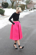 H&M skirt - Zara top - Zara heels