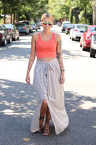 Bella top - Zara skirt - Urban Outfitters sandals
