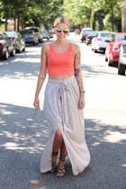 Bella top - Zara skirt - Urban Outfitters sandals