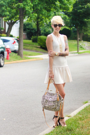 Stella and Dot bracelet - H&M dress - coach bag - Karen Walker sunglasses