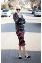H&M skirt - Victorias Secret jacket - asos top - Zara heels