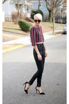 H&M top - Zara jeans - Zara heels