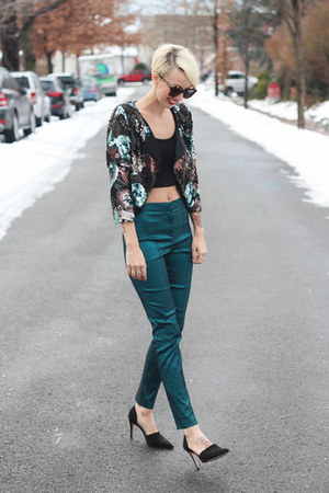 Victorias Secret jacket - asos top - asos pants - Zara heels