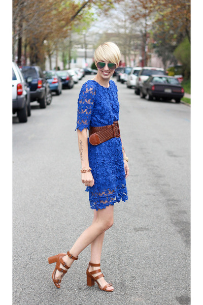 Nasty Gal dress - H&M sunglasses - Zara heels