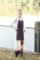 H&M dress - Steve Madden boots - H&M bag - Shop Elysian cardigan