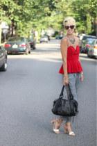 Zara necklace - Burberry bag - Zara pants - Zara heels - asos top