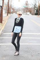 Zara necklace - asos boots - Zara jeans - H&M shirt - Zara top