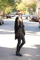 H&M sweater - Zara boots - Topshop top - Zara pants