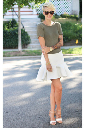 asos skirt - H&M top - Zara heels