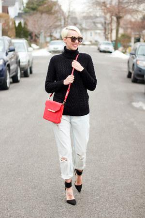 Zara sweater - Mango jeans - Stella & Dot bag - Zara heels