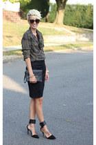Zara skirt - Urban Outfitters blouse - H&M top - Zara heels