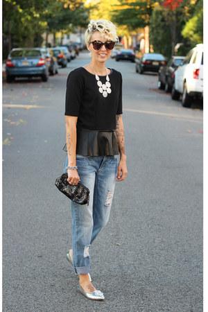 TJ Maxx top - asos jeans - Zara flats
