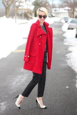 Victorias Secret coat - ted baker bag - Mango pants - Zara heels