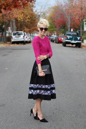 Loft sweater - Topshop skirt - Zara heels
