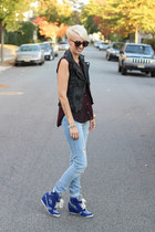 H&M jeans - piperlime vest - H&M top - Zara sneakers