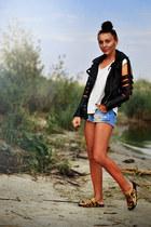 Lovelyshoes jacket - second hand shorts - Steve Madden flats