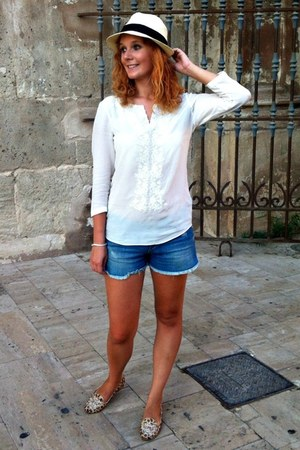 white silk Massimo Dutti shirt