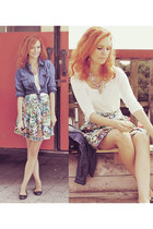 Zara skirt - Mango shirt - Stradivarius top - Promod necklace
