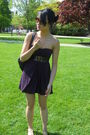 Purple-urban-outfitters-dress-gold-steve-madden-shoes