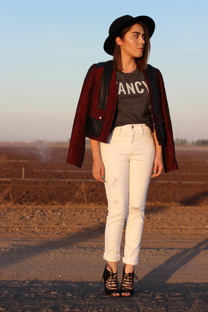 abercrombie and fitch jeans - Forever 21 hat - Jason Wu jacket
