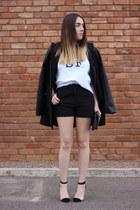 Nordstrom coat - H&M shorts - GoJane heels