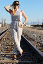 Betsey Johnson watch - Prada sunglasses - Topshop jumper - Topshop sandals
