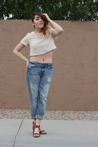 Forever 21 jeans - Topshop top - Forever 21 sandals